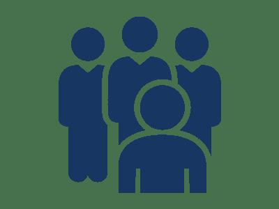 Icône représentant une équipe de vendeurs