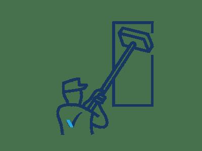 Icône représentant un laveur de vitres